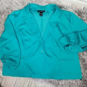 Ashley Stewart original Jacket blazer Teal size 26